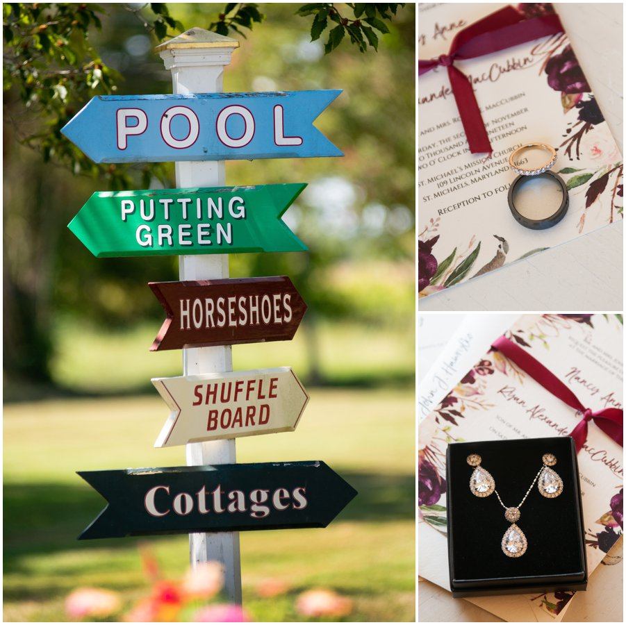 Details from a wedding at The Oaks in St. Michaels, MD by Melissa Grimes-Guy Photography